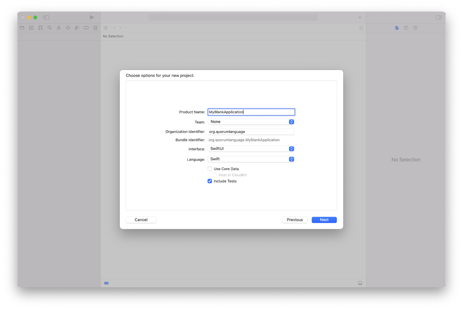 The Xcode Project Options